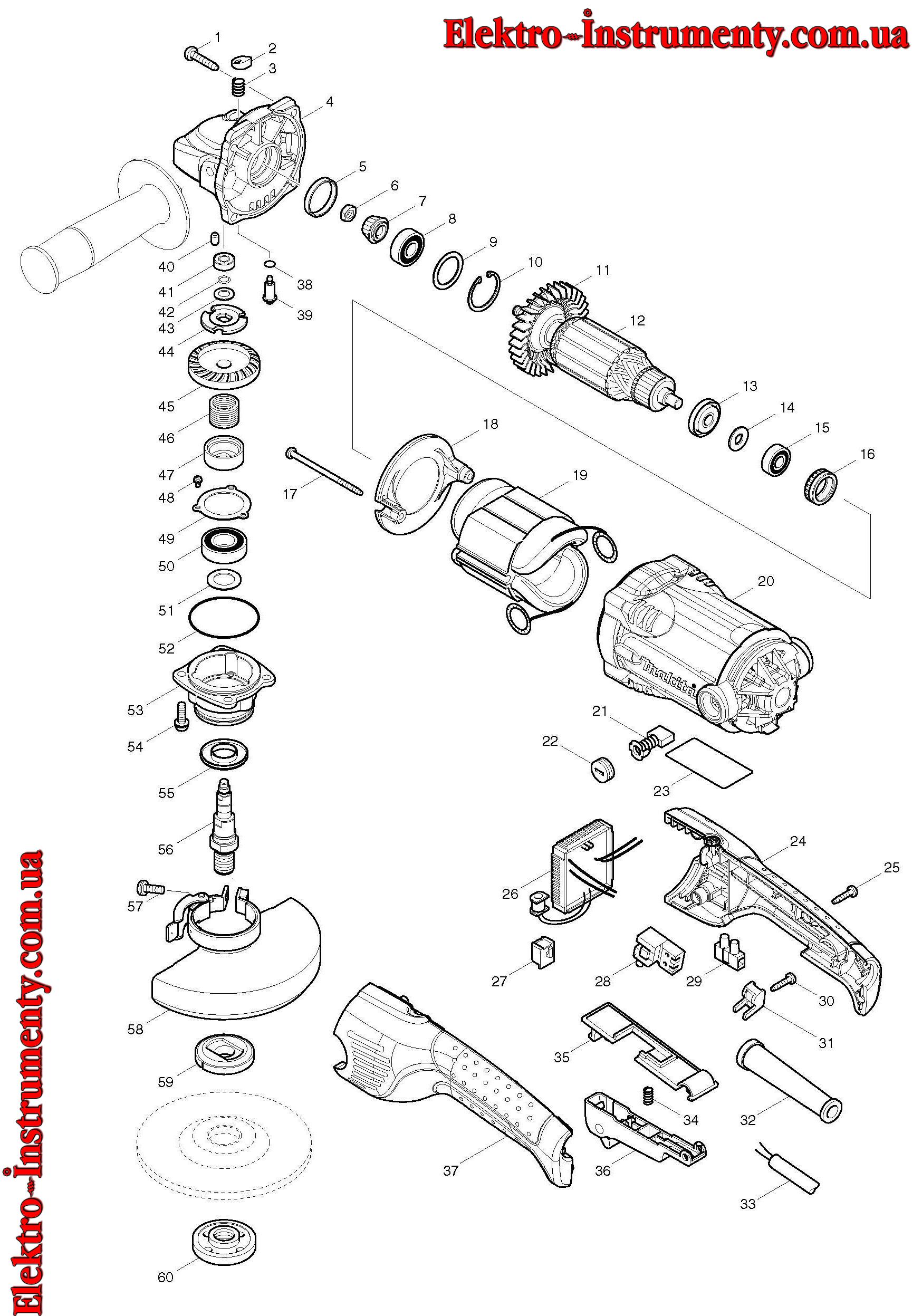 Электрические схемы углошлифовальных машин
