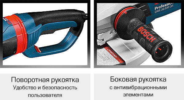 Гашение вибрации на всех ручках болгарки